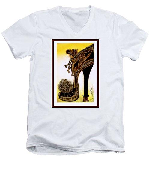 High Heel Heaven Men's V-Neck T-Shirt by Jolanta Anna Karolska