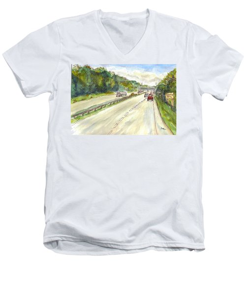 Highway 95 Men's V-Neck T-Shirt