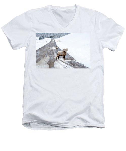 On The Road Again Big Horn Sheep  Men's V-Neck T-Shirt