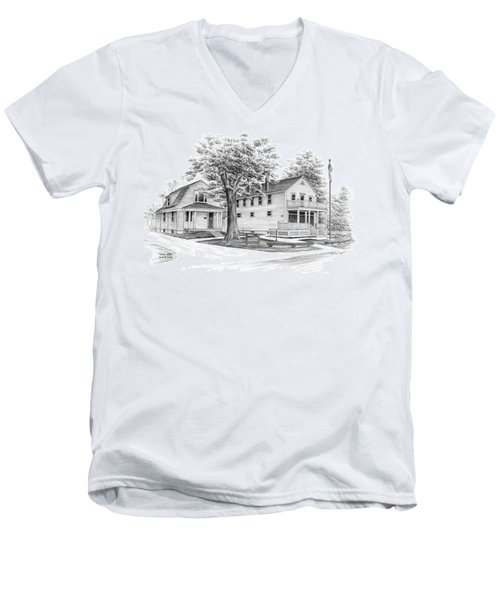 Historic Jaite Mill - Cuyahoga Valley National Park Men's V-Neck T-Shirt