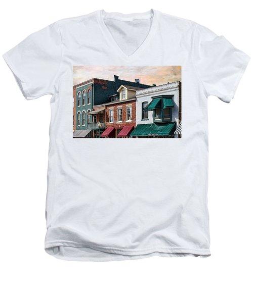 Historic Weston Men's V-Neck T-Shirt by Liane Wright