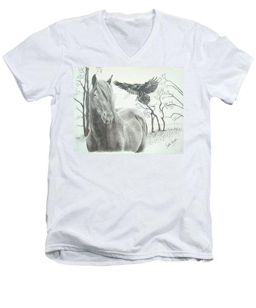 Hitch'n A Ride Men's V-Neck T-Shirt