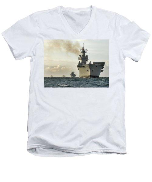 Hms Ark Royal  Men's V-Neck T-Shirt by Paul Fearn
