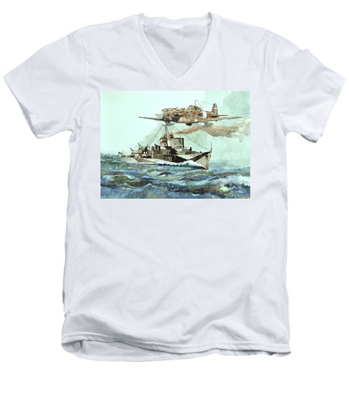 Hms Ledbury Men's V-Neck T-Shirt
