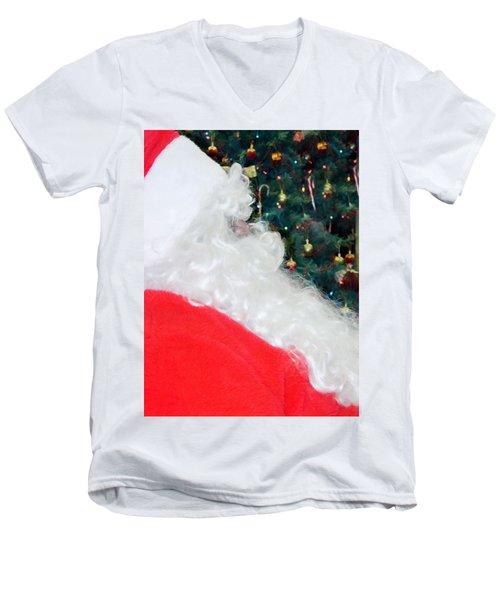 Men's V-Neck T-Shirt featuring the photograph Santa Claus by Vizual Studio