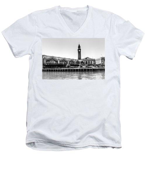 Hoboken Terminal Tower Men's V-Neck T-Shirt
