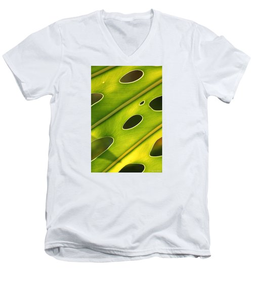 Men's V-Neck T-Shirt featuring the photograph Holey Light by Amy Gallagher
