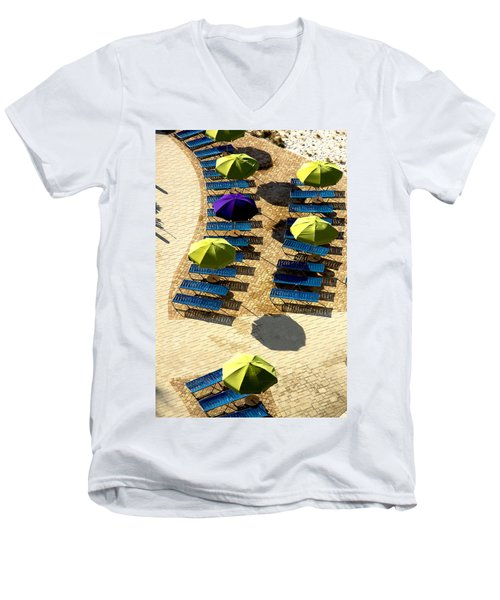 Men's V-Neck T-Shirt featuring the photograph Holiday by Kathy Bassett