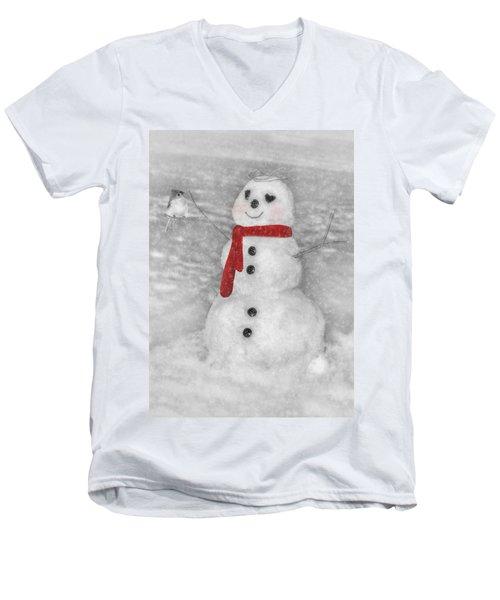 Holiday Snowman Men's V-Neck T-Shirt