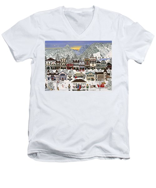 Holiday Village Men's V-Neck T-Shirt