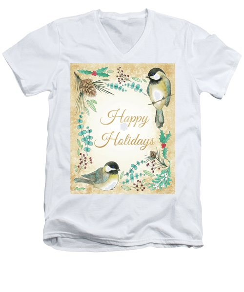 Holiday Wishes II Men's V-Neck T-Shirt