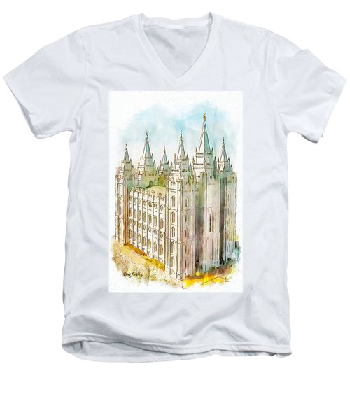 Holiness To The Lord Men's V-Neck T-Shirt by Greg Collins