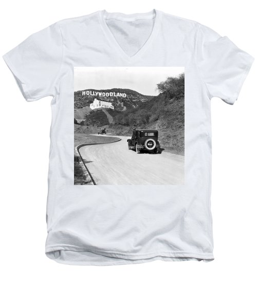 Hollywoodland Men's V-Neck T-Shirt