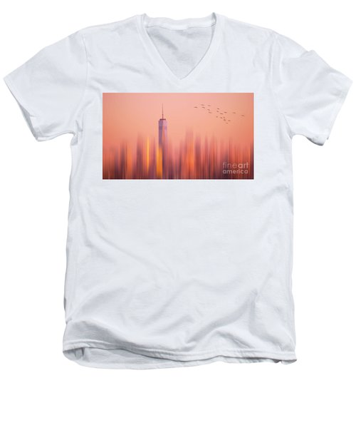 Men's V-Neck T-Shirt featuring the photograph Towards Freedom by Rima Biswas