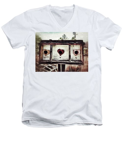 Home Sweet Home Men's V-Neck T-Shirt by Mark David Gerson