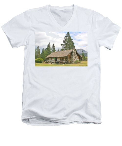 Men's V-Neck T-Shirt featuring the photograph Homesteaded by Marilyn Diaz