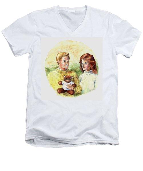 Honey Bear Men's V-Neck T-Shirt by Duane R Probus
