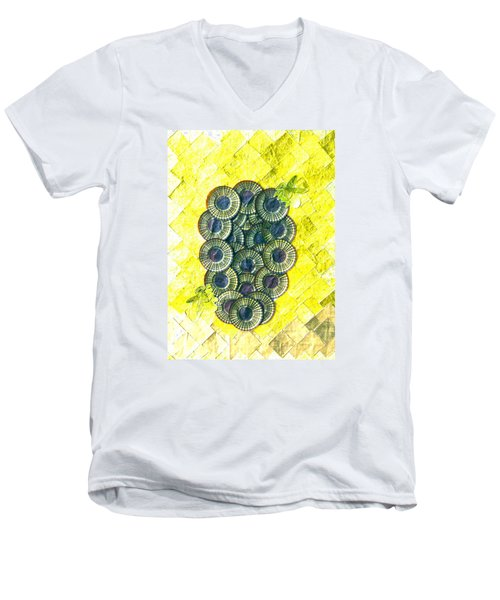Men's V-Neck T-Shirt featuring the digital art Honeybee 1 by Lorna Maza