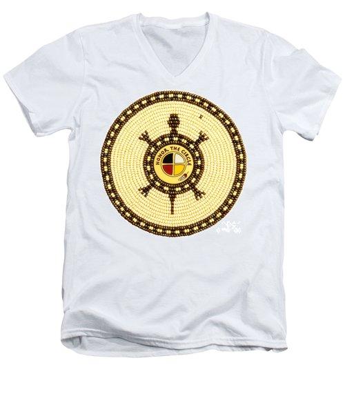 Honor The Circle Men's V-Neck T-Shirt
