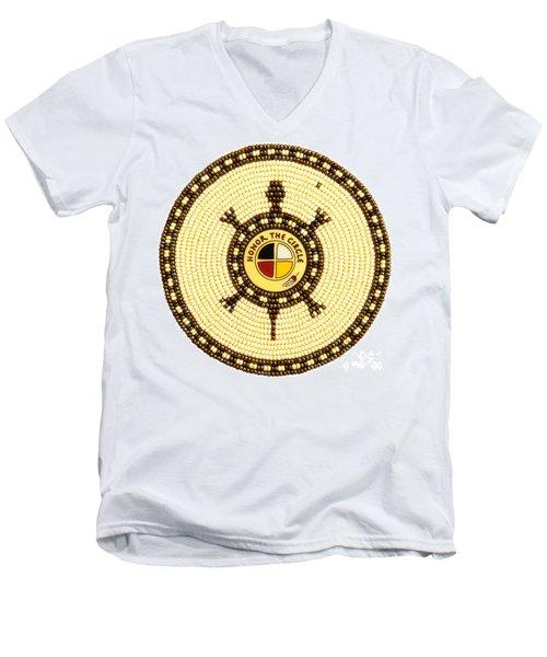 Honor The Circle Men's V-Neck T-Shirt