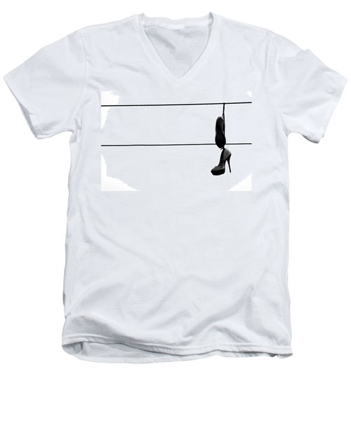 Hooked And Booked  Men's V-Neck T-Shirt by Jerry Cordeiro