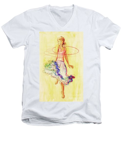 Hoop Dance Men's V-Neck T-Shirt