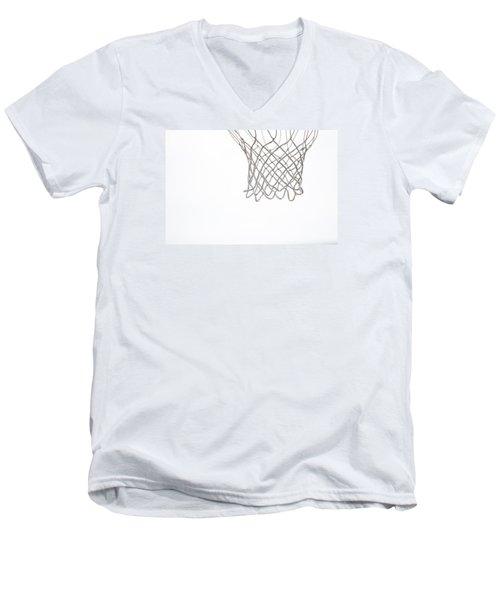 Hoops Men's V-Neck T-Shirt by Karol Livote