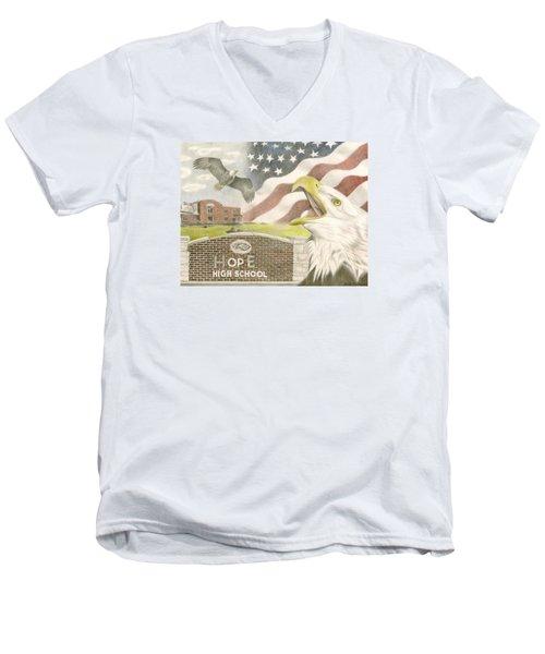 Hope High School Men's V-Neck T-Shirt by Dustin Miller