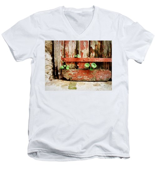 Hope Men's V-Neck T-Shirt by Lainie Wrightson