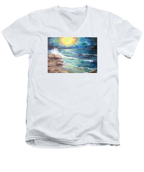Horizons Men's V-Neck T-Shirt by Cheryl Pettigrew