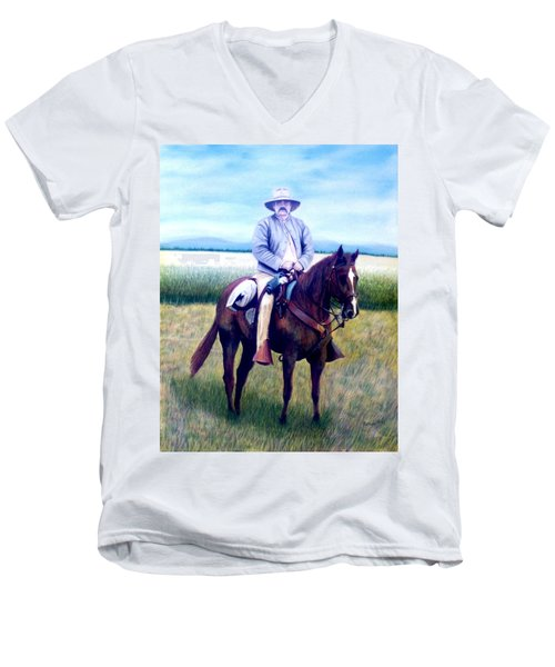Horse And Rider Men's V-Neck T-Shirt