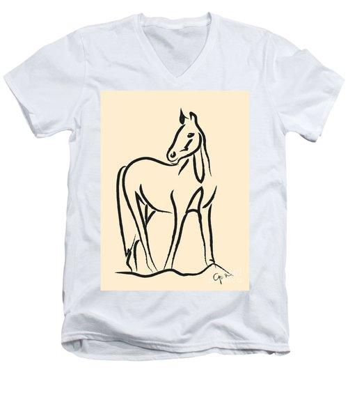 Horse - Grace Men's V-Neck T-Shirt