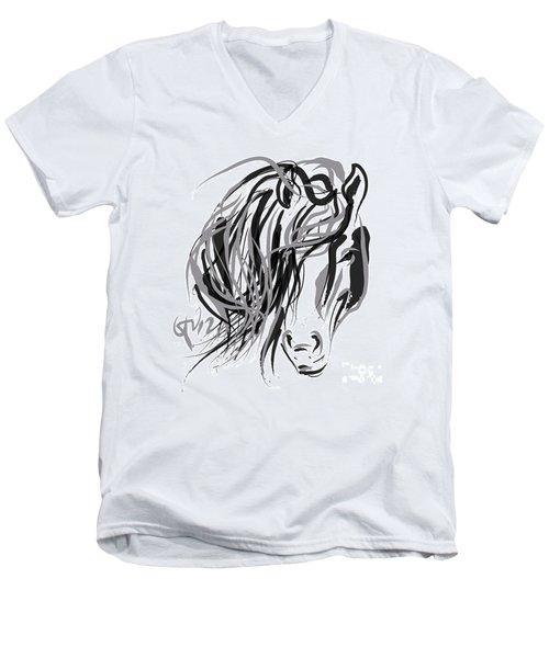 Horse- Hair And Horse Men's V-Neck T-Shirt