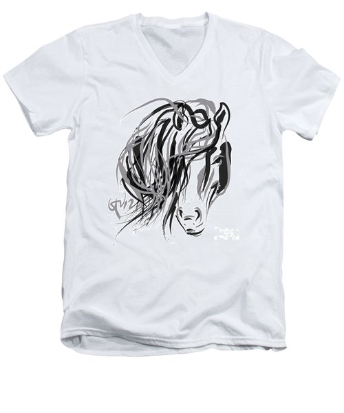 Horse- Hair And Horse Men's V-Neck T-Shirt