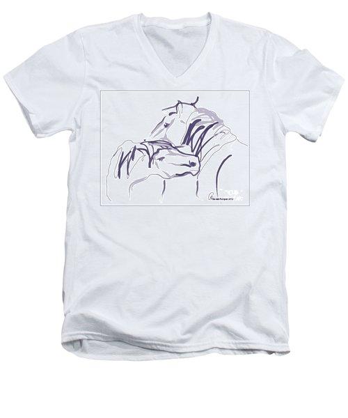 Horse - Together 10 Men's V-Neck T-Shirt