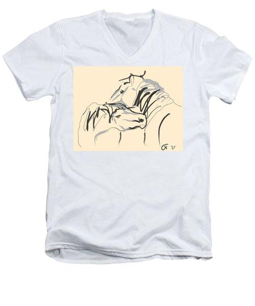 Horse - Together 4 Men's V-Neck T-Shirt