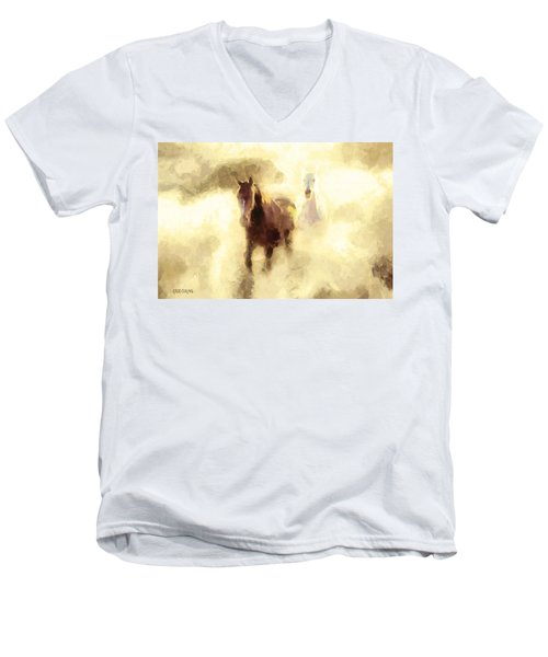 Horses Of The Mist Men's V-Neck T-Shirt