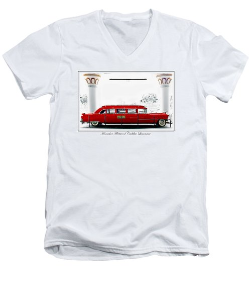 Horseshoe Fleetwood Cadillac Limousine Men's V-Neck T-Shirt