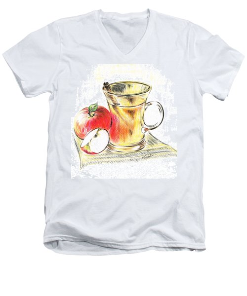 Hot Apple Cider Men's V-Neck T-Shirt by Teresa White