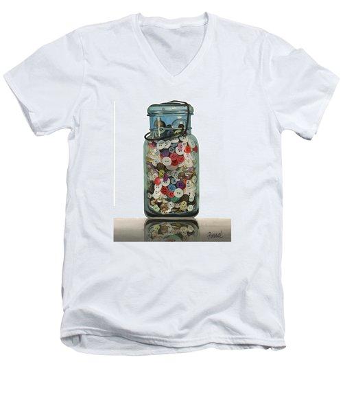Hot Buttons Men's V-Neck T-Shirt by Ferrel Cordle