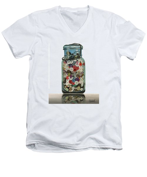 Hot Buttons Men's V-Neck T-Shirt