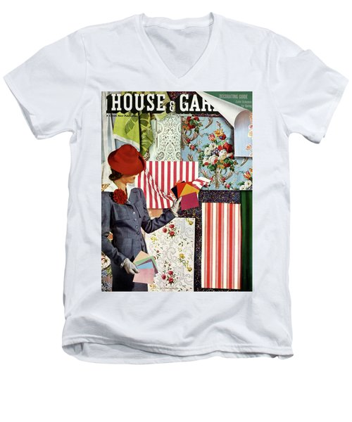 House & Garden Cover Illustration Of A Woman Men's V-Neck T-Shirt