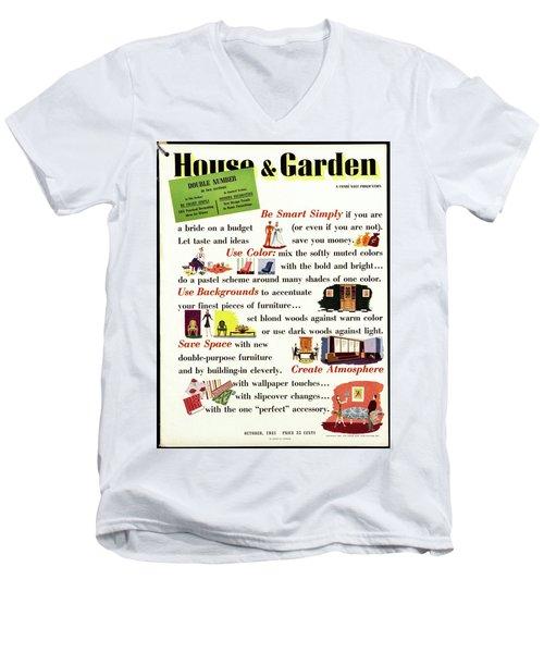 House And Garden Cover Men's V-Neck T-Shirt