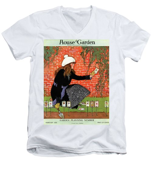 House And Garden Garden Planting Number Cover Men's V-Neck T-Shirt