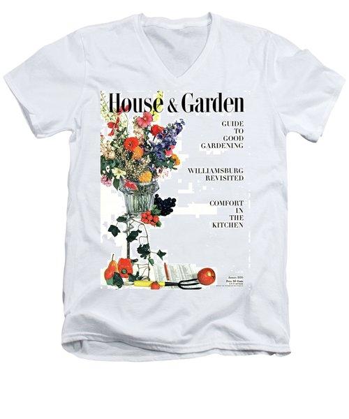 House And Garden Guide To Good Gardening Cover Men's V-Neck T-Shirt