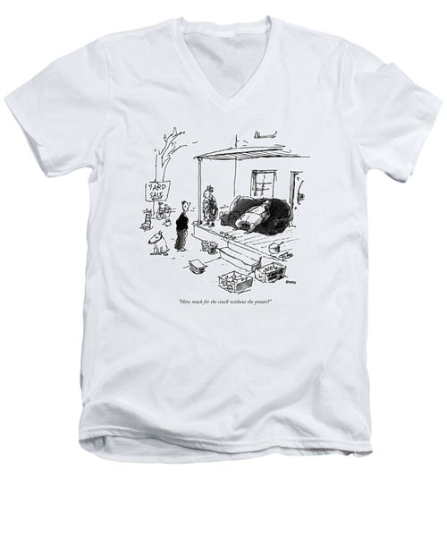 How Much For The Couch Without The Potato? Men's V-Neck T-Shirt