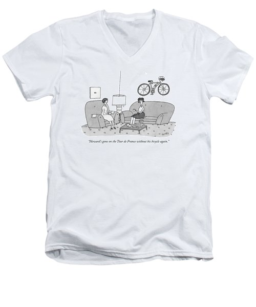 Howard's Gone On The Tour De France Men's V-Neck T-Shirt