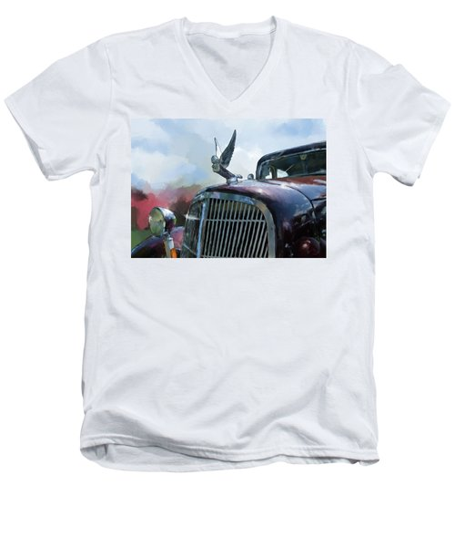 Hudson Men's V-Neck T-Shirt by Debra Baldwin