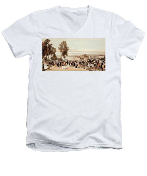 Hyde Park, Towards The Grosvenor Gate Men's V-Neck T-Shirt by Thomas Shotter Boys