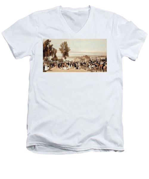 Hyde Park, Towards The Grosvenor Gate Men's V-Neck T-Shirt by Thomas Shotter Boys